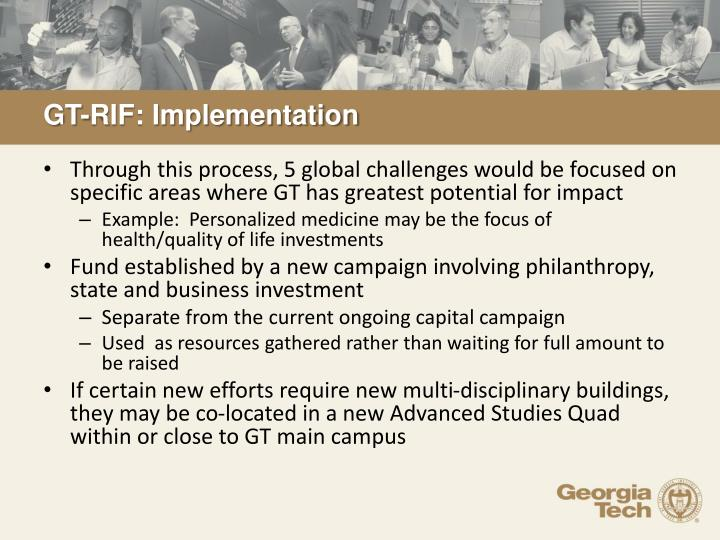 GT-RIF: Implementation