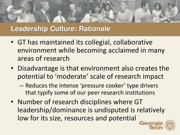 Leadership Culture: Rationale