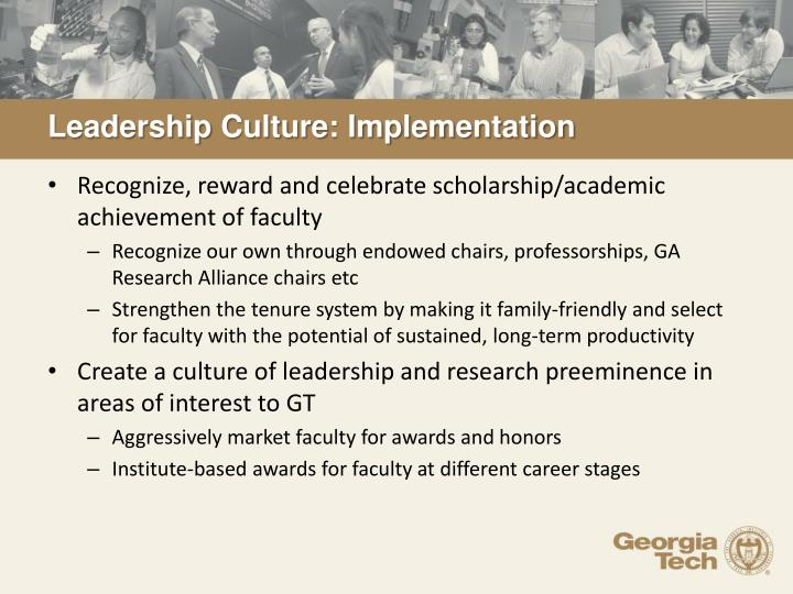 Leadership Culture: Implementation