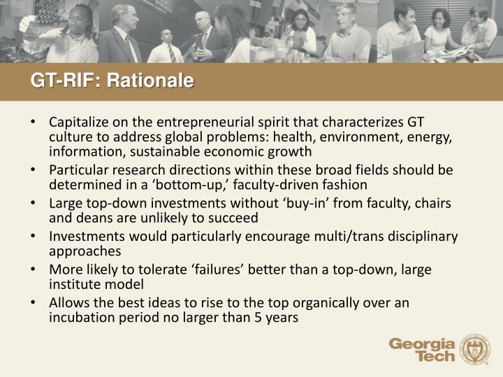 GT-RIF: Rationale
