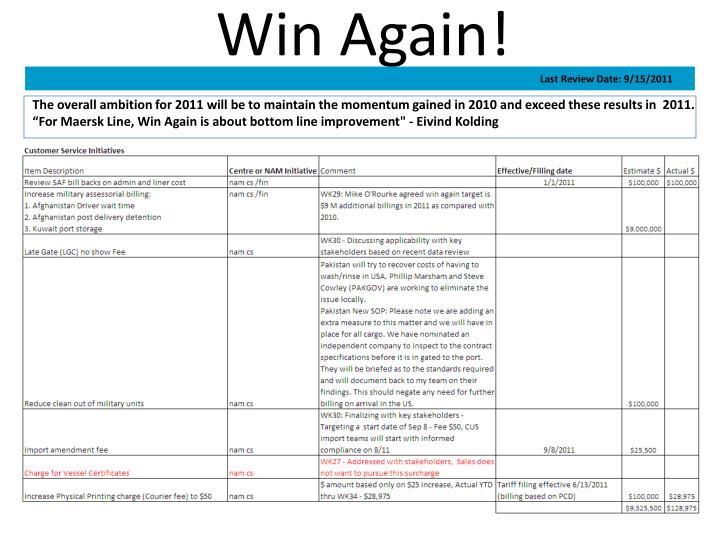 Win Again!