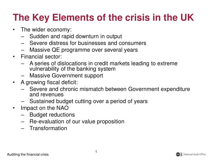The key elements of the crisis in the uk