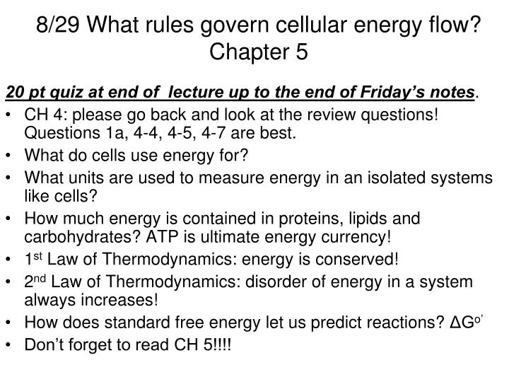 8 29 what rules govern cellular energy flow chapter 5