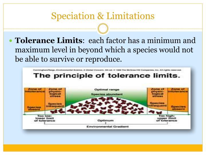 Speciation & Limitations