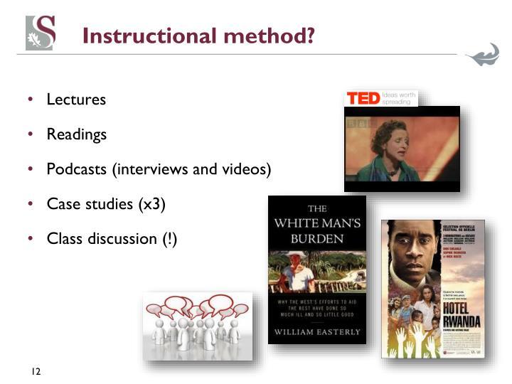 Instructional method?
