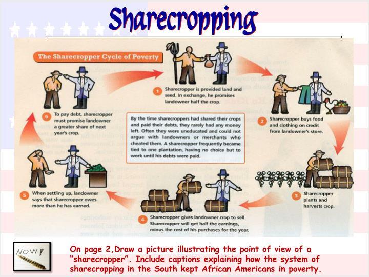 Sharecropping Chart on Emancipation Proclamation Worksheet