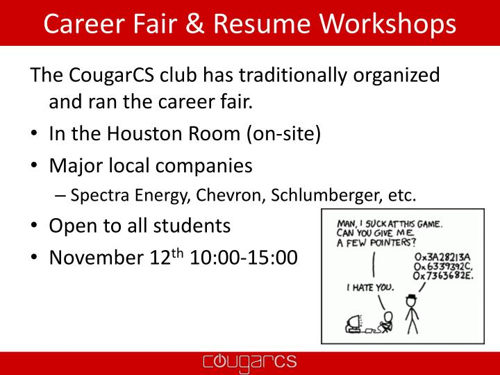 Career Fair & Resume Workshops
