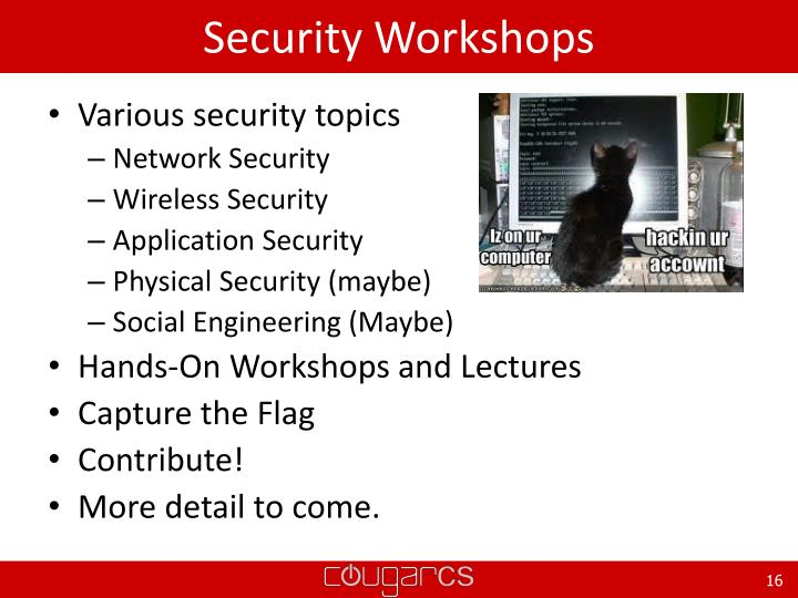 Security Workshops