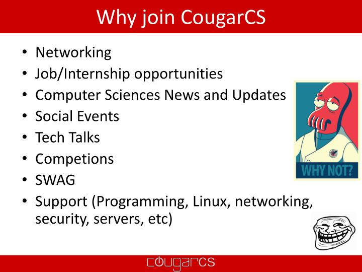 Why join cougarcs