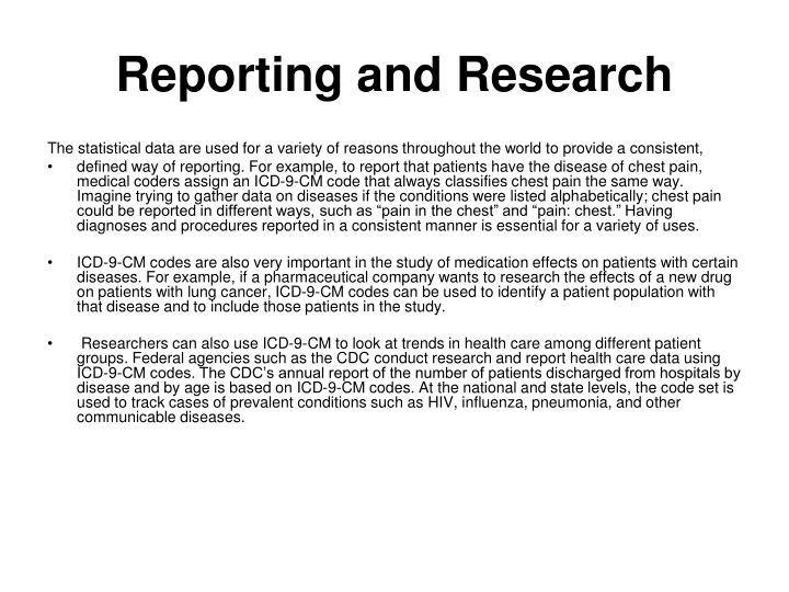 Reporting and research