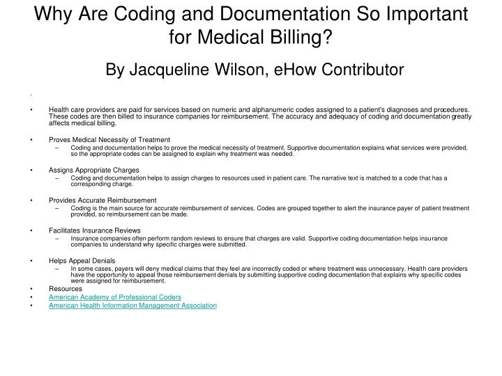 Why Are Coding and Documentation So Important for Medical Billing?