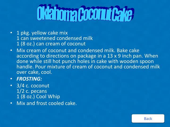 Oklahoma Coconut Cake