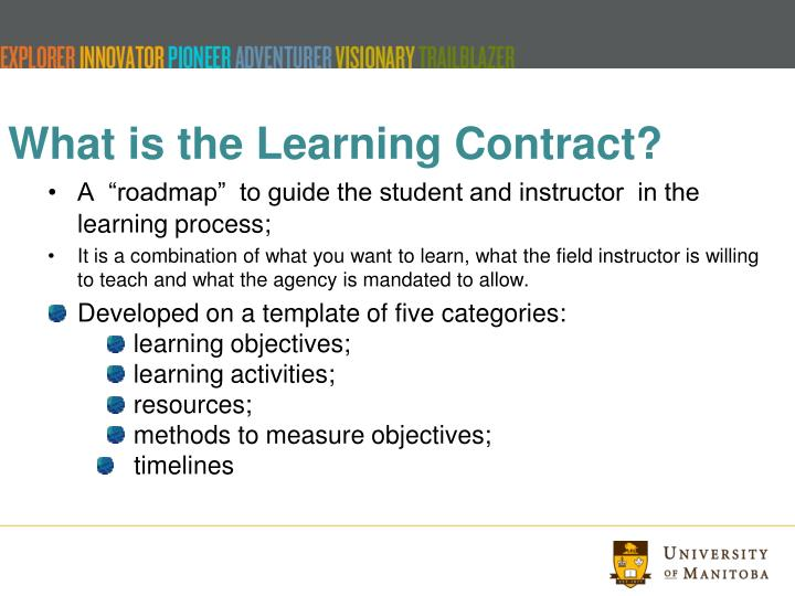 What is the Learning Contract?
