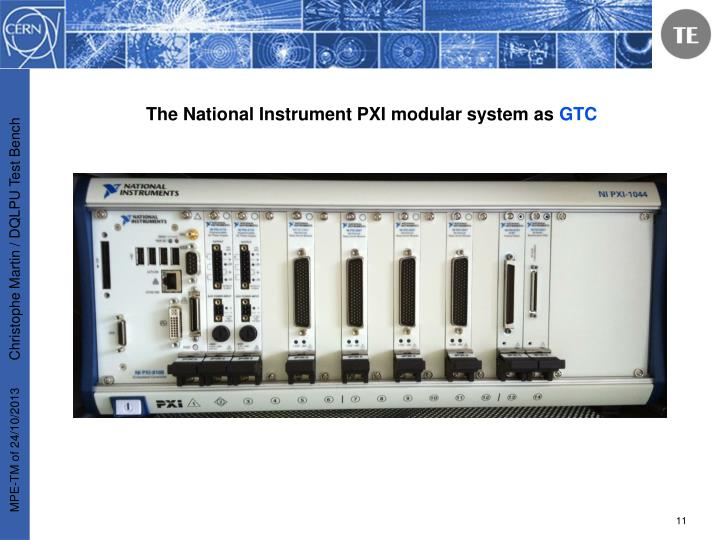 The National Instrument PXI modular system as