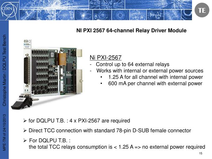 NI PXI 2567 64-channel Relay Driver Module