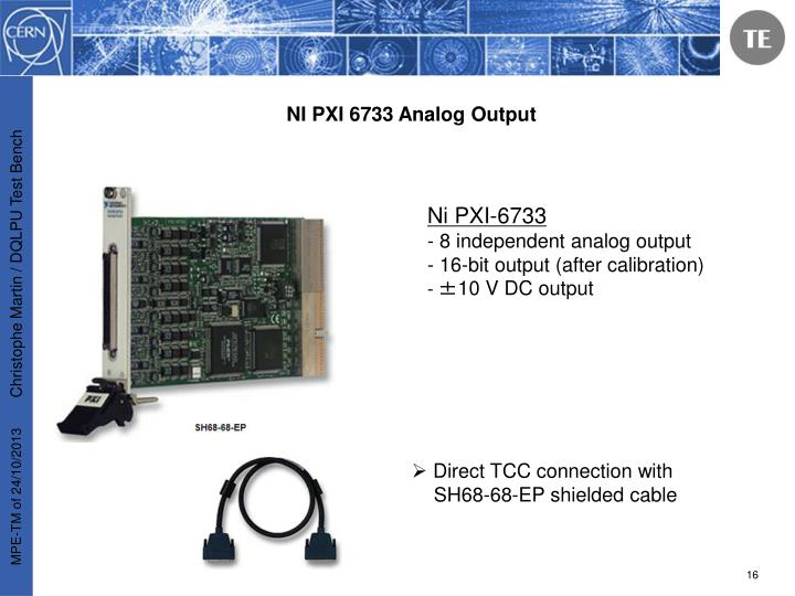 NI PXI 6733 Analog Output