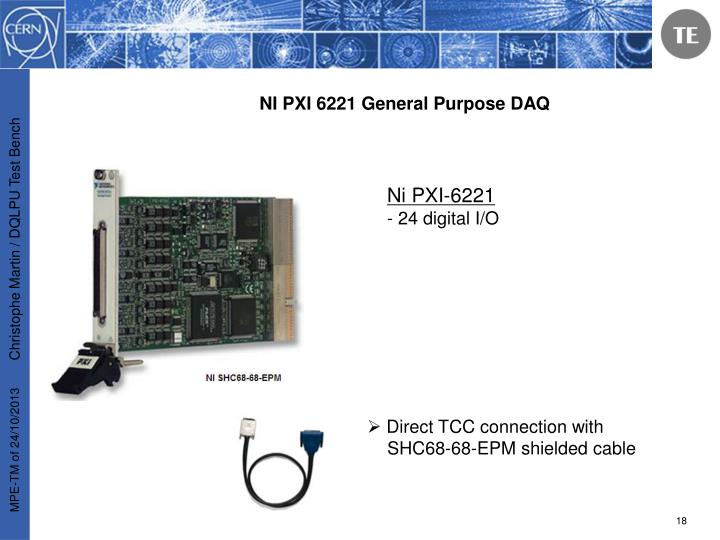 NI PXI 6221 General Purpose DAQ