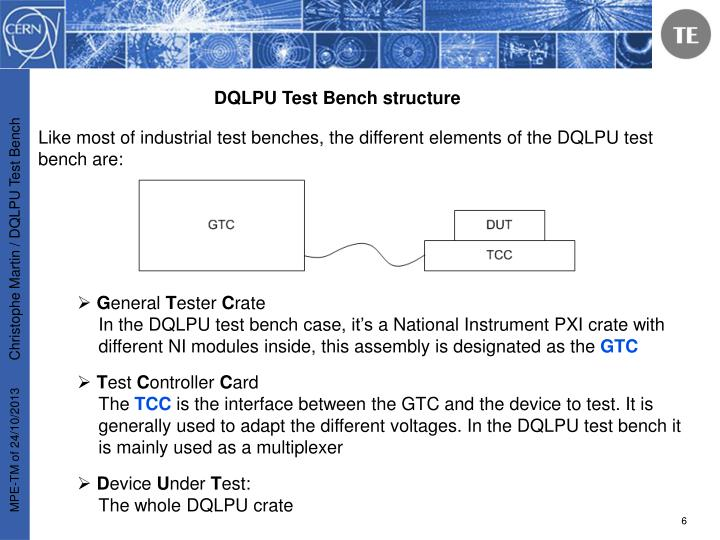 DQLPU Test Bench structure