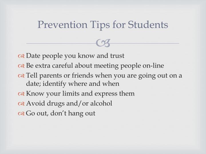 Prevention Tips for Students