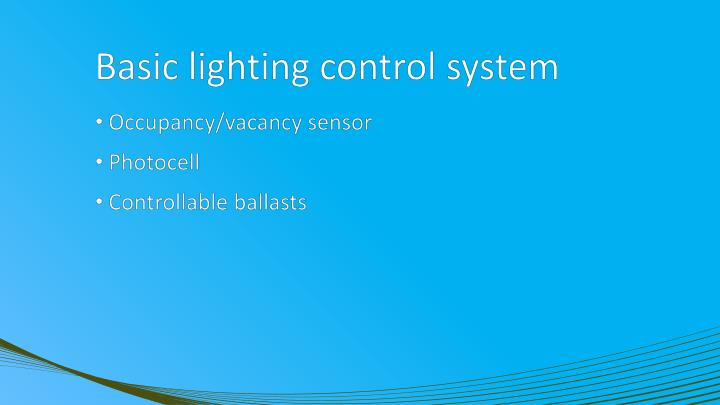 Basic lighting control system