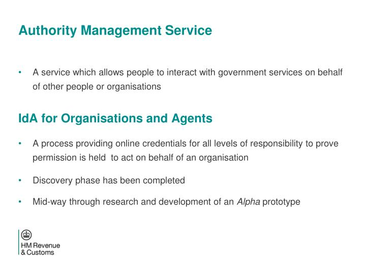 Authority Management Service