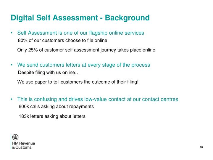 Digital Self Assessment - Background