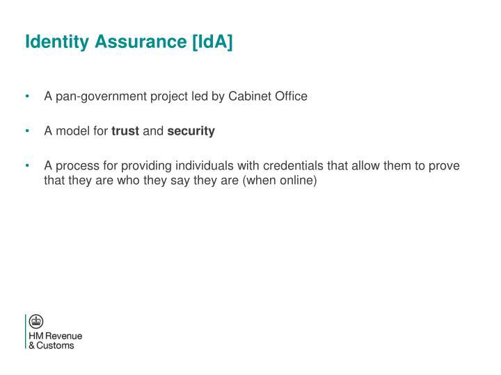 Identity Assurance [IdA]