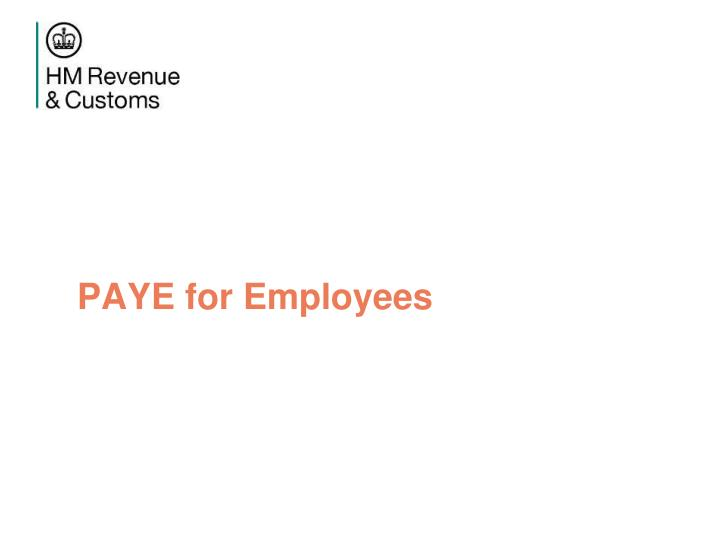 PAYE for Employees