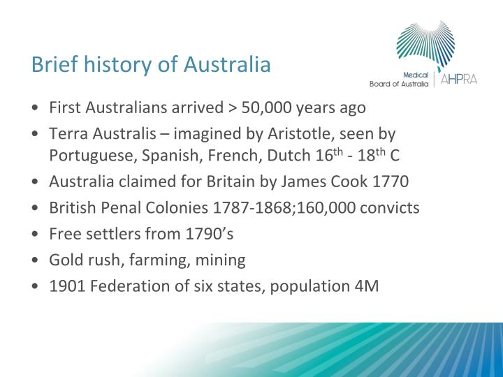 Brief history of australia