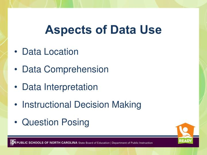 Aspects of Data Use