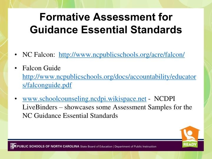 Formative Assessment for Guidance Essential Standards