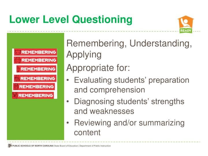 Lower Level Questioning