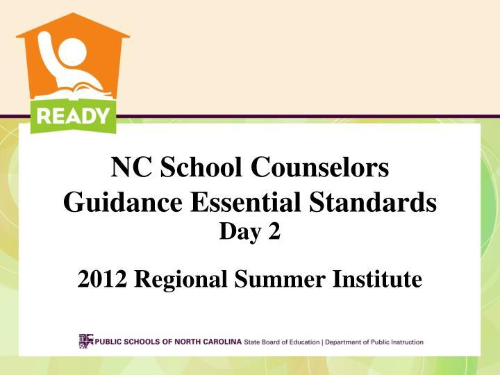 NC School Counselors