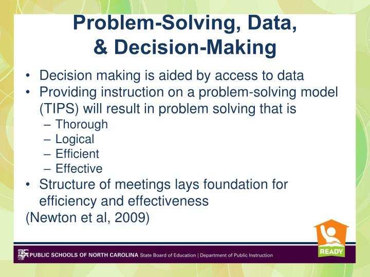 Problem-Solving, Data,