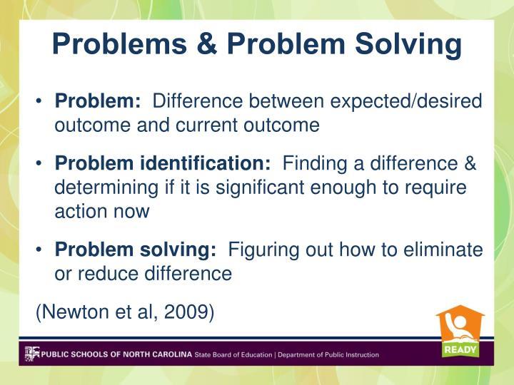 Problems & Problem Solving