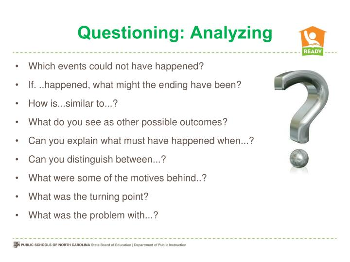 Questioning: Analyzing