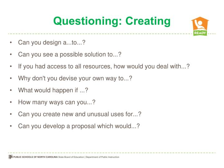 Questioning: Creating