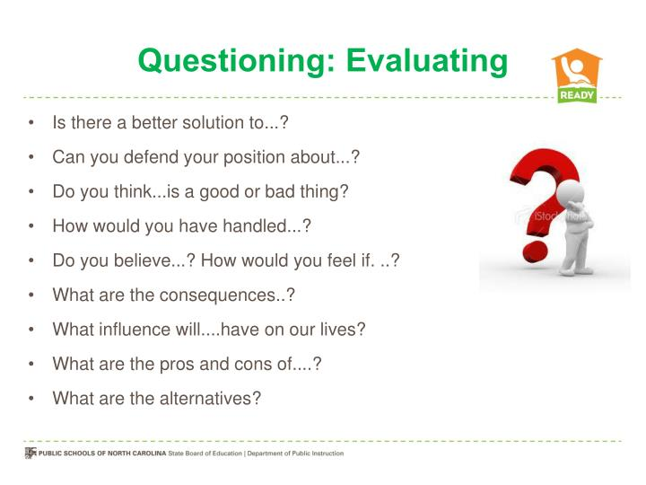 Questioning: Evaluating