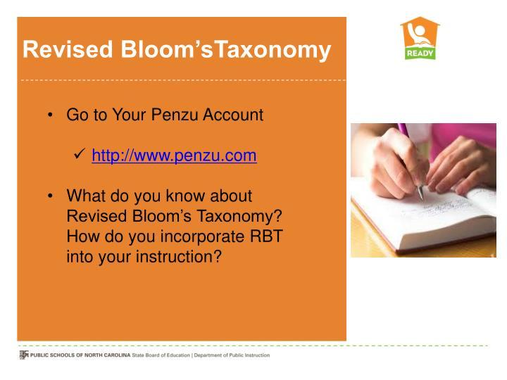 Revised Bloom'sTaxonomy