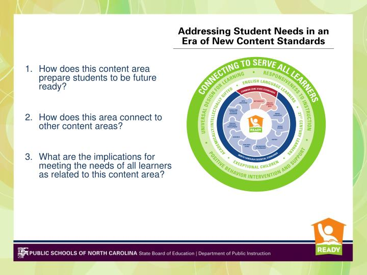 How does this content area prepare students to be future ready?