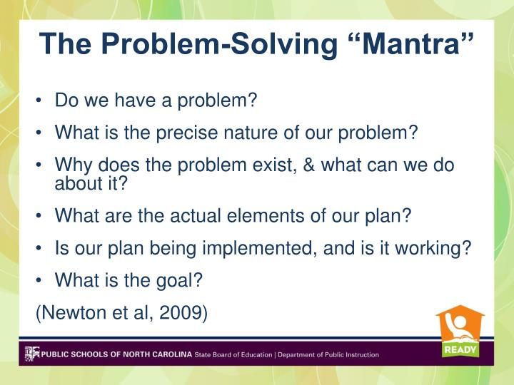 "The Problem-Solving ""Mantra"""