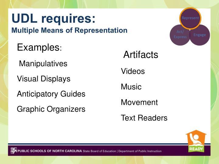 UDL requires: