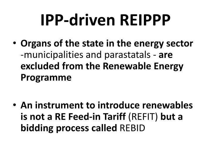 IPP-driven REIPPP