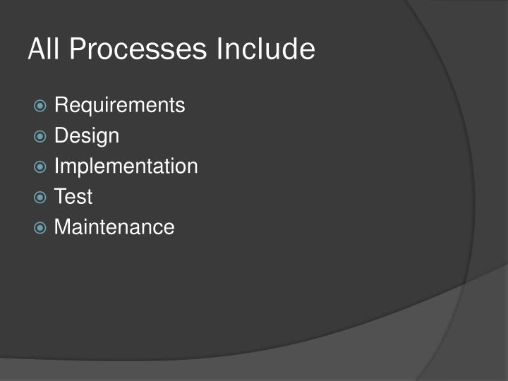 All Processes Include
