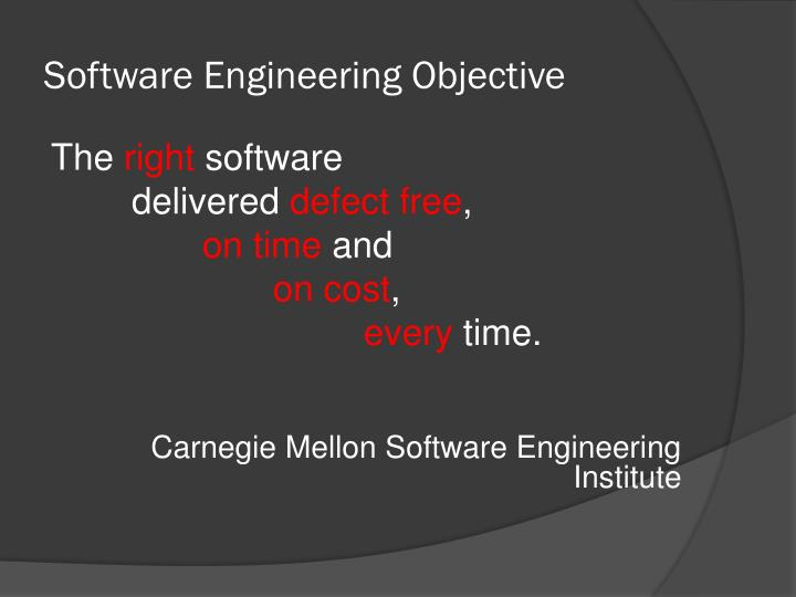 Software Engineering Objective