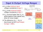 input output voltage ranges1