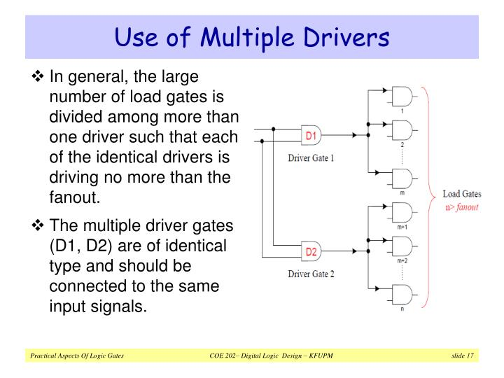 Use of Multiple Drivers