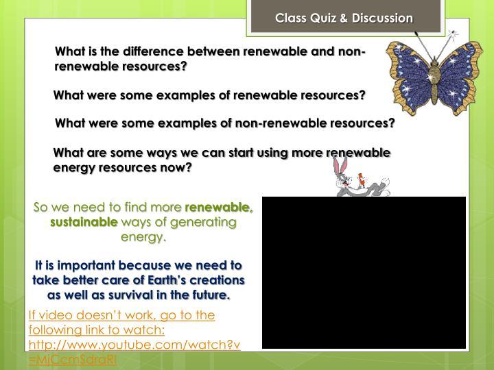 Class Quiz & Discussion