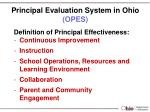 principal evaluation system in ohio opes