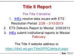 title ii report